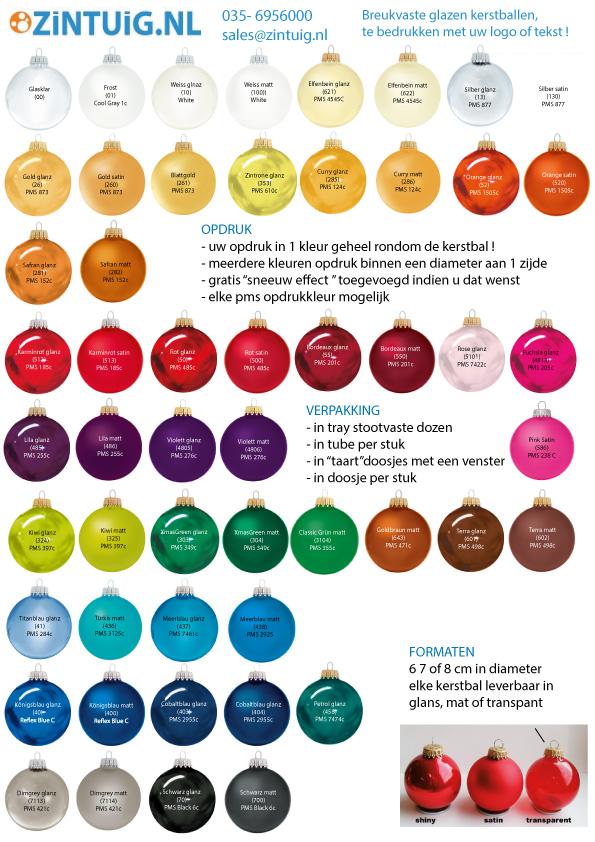 kleuren bedrukte kerstballen